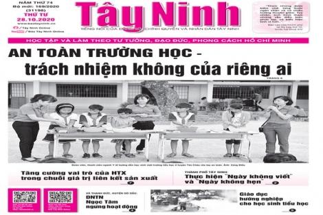 Điểm báo in Tây Ninh ngày 28.10.2020