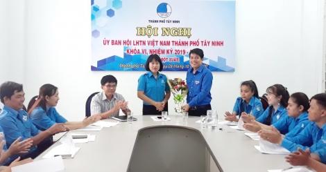Hội LHTN Việt Nam thành phố Tây Ninh hiệp thương kiện toàn nhân sự