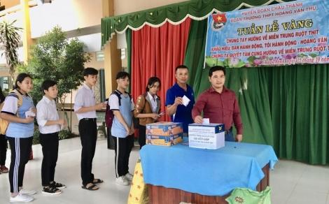 Đoàn Trường THPT Hoàng Văn Thụ (Châu Thành): Hướng về miền Trung ruột thịt