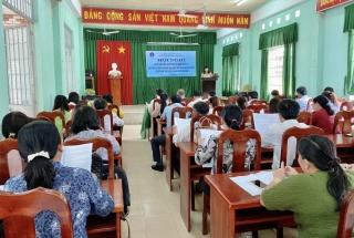 Châu Thành: Sơ kết công tác phát triển đối tượng tham gia BHYT và BHXH tự nguyện