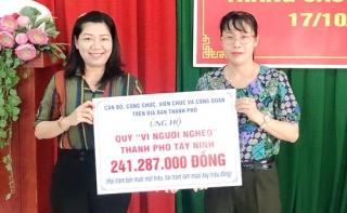 """Thành phố Tây Ninh phát động tháng cao điểm """"Vì người nghèo"""""""