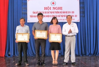 Tổng kết hoạt động Chữ thập đỏ trường học năm học 2019-2020