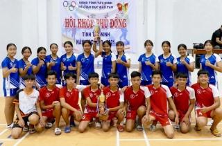 Phòng giáo dục Dương Minh Châu đoạt cú đúp