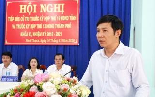 Ông Nguyễn Thành Tâm tiếp xúc cử tri phường Ninh Thạnh (TP. Tây Ninh)
