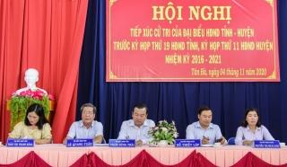 Đại biểu HĐND tiếp xúc cử tri tại huyện Tân Châu