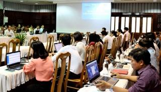 Tập huấn xác định chỉ số CCHC trên phần mềm điện tử