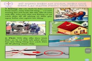 Bảo vệ hành lang an toàn lưới điện cao áp và an toàn sử dụng điện