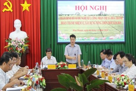 Thẩm định, xét công nhận Hòa Thành hoàn thành nhiệm vụ xây dựng nông thôn mới