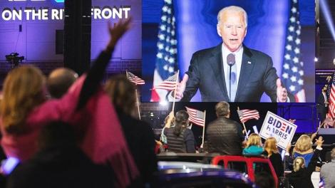 Ứng cử viên Tổng thống Mỹ J.Biden tuyên bố chiến thắng