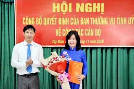 Bà Nguyễn Thị Xuân Hương được bổ nhiệm giữ chức Trưởng Ban Tuyên giáo Tỉnh uỷ