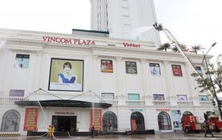 Diễn tập phòng cháy chữa cháy và cứu nạn tại tòa nhà Vincom Tây Ninh