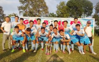 Đội Thị trấn Gò Dầu đạt chức vô địch giải bóng đá vô địch U18 huyện Gò Dầu năm 2020