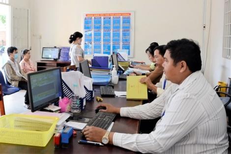 Ghi nhận tại bộ phận Một cửa phường Ninh Thạnh