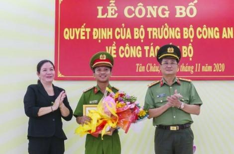 Bổ nhiệm Trưởng Công an huyện Tân Châu