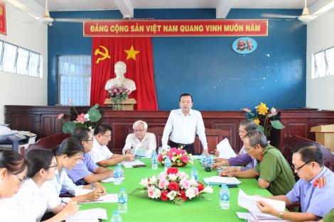 Khảo sát công tác phòng chống tội phạm, hoạt động kiểm sát, xét xử và thi hành án tại thị xã Hòa Thành