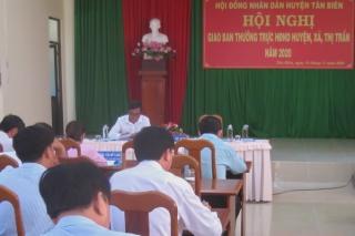 HĐND huyện Tân Biên giao ban, trao đổi kinh nghiệm với Thường trực HĐND các xã, thị trấn