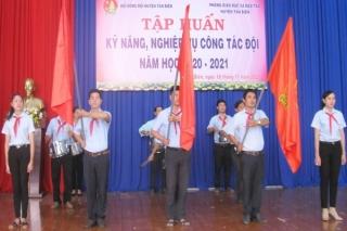 Tân Biên: Tập huấn kỹ năng, nghiệp vụ công tác Đội năm học 2020-2021
