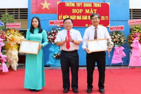 Trường THPT Quang Trung tổ chức lễ kỷ niệm ngày Nhà giáo Việt Nam 20-11