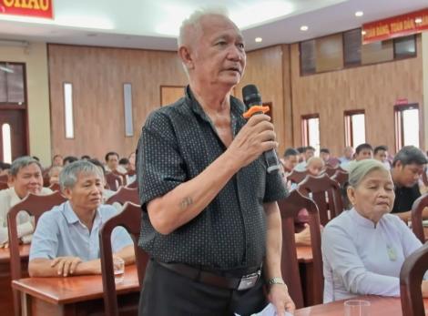 Tiếp xúc cử tri sau kỳ họp thứ 10, Quốc hội khoá XIV tại huyện Tân Châu