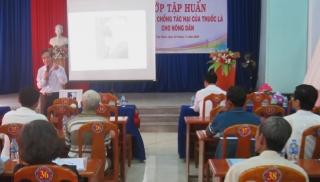Tập huấn phòng, chống tác hại thuốc lá cho Hội Nông dân huyện Tân Biên