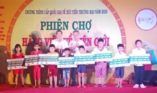 Khai mạc phiên chợ hàng Việt về biên giới tại huyện Tân Biên