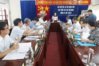 Họp thẩm tra các nội dung trình kỳ họp thứ 19 HĐND tỉnh