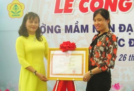 Trường mầm non Bình Minh đạt chuẩn Quốc gia mức độ 1
