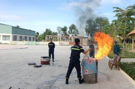 Châu Thành tập huấn nghiệp vụ phòng cháy chữa cháy