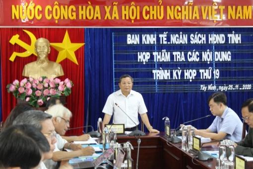 Ban KT-NS HĐND tỉnh thẩm tra các nội dung trình kỳ họp lần thứ 19