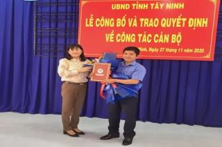 UBND tỉnh: Trao quyết định bổ nhiệm Phó Giám đốc phụ trách Sở Xây dựng