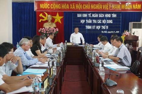 Thẩm tra các nội dung trình kỳ họp thứ 19 HĐND tỉnh