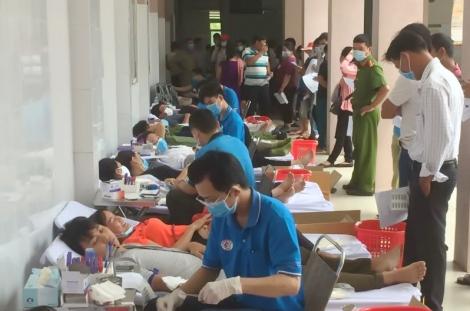 Năm 2020: Hòa Thành tiếp nhận 2.258 đơn vị máu