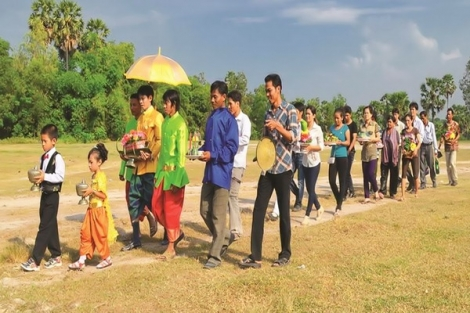 Múa mở rào trong đám cưới của người Khmer
