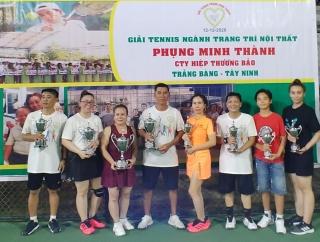 Gò Dầu: Tổ chức Giải quần vợt ngành trang trí nội thất  Phụng Minh Thành