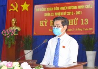 Huyện Dương Minh Châu khai mạc kỳ họp thứ 13 HĐND huyện khóa XI, nhiệm kỳ 2016 – 2021