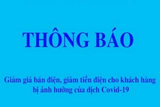 Công ty điện lực Tây Ninh thông báo về việc giảm giá bán điện, giảm tiền điện cho khách hàng