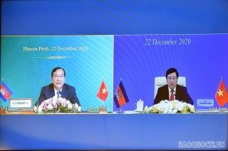 Việt Nam–Campuchia trao đổi nghị định thư phân giới cắm mốc
