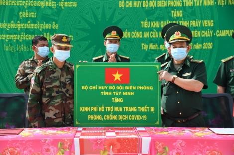 Hỗ trợ kinh phí phòng, chống dịch Covid-19 cho lực lượng bảo vệ biên giới tỉnh Prey Veng