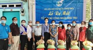 Ra mắt tổ phụ nữ công nhân khu nhà trọ ấp Thanh Hùng
