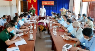 Ban Chỉ đạo phòng, chống dịch bệnh ở người huyện Bến Cầu tổ chức họp khẩn