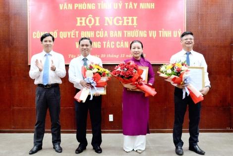 Bà Huỳnh Thị Hồng Nhung được bổ nhiệm giữ chức Chánh Văn phòng Tỉnh uỷ
