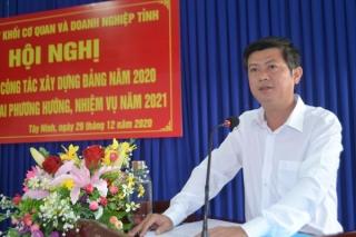 Tổng kết công tác xây dựng Đảng năm 2020, triển khai nhiệm vụ năm 2021
