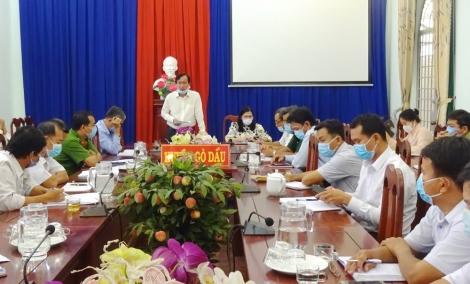 Ban Chỉ đạo phòng, chống dịch bệnh huyện Gò Dầu họp đột xuất