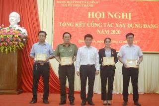"""Năm 2020: Hòa Thành có 10 tổ chức cơ sở Đảng đạt """"Trong sạch vững mạnh"""" tiêu biểu"""