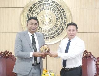 Tổng lãnh sự Ấn Độ tại TP.Hồ Chí Minh đến chào xã giao lãnh đạo tỉnh