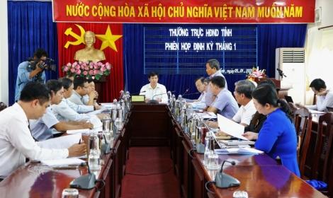 Thường trực HĐND tỉnh họp phiên định kỳ tháng 1.2021