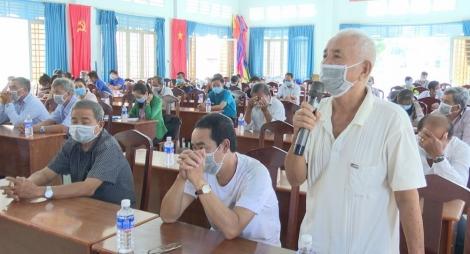 Đại biểu HĐND 2 cấp tỉnh, huyện tiếp xúc cử tri các xã Long Thuận, Long Khánh