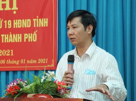 Bí thư Tỉnh ủy tiếp xúc cử tri phường Hiệp Ninh