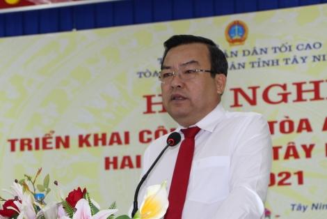 Triển khai công tác TAND hai cấp tỉnh năm 2021