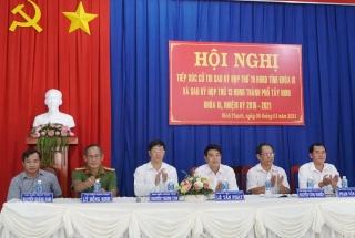 Đại biểu HĐND tỉnh và TP. Tây Ninh tiếp xúc cử tri phường Ninh Thạnh